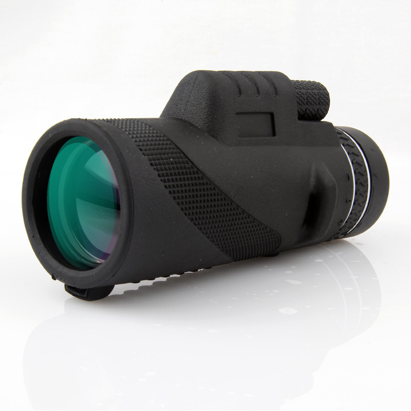 <font><b>40X60</b></font> <font><b>BAK4</b></font> FMC Coating Wide Angle HD Zoom Low Night Vision <font><b>Monocular</b></font> Telescope with Clip Tripod for Travelling Hunting Camping image