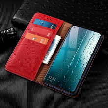 Litchi Patter Genuine Leather Magnetic Flip Cover For Huawei Mate 10 20 20X 30 40 Lite Pro Case Luxury Wallet