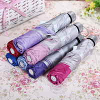 Currently Available Wholesale Three Foldable Silver Colloid Parasol Men And Women Students All-Weather Umbrella Sale Gift Advert