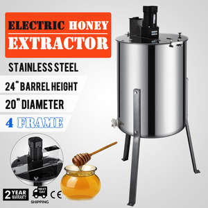 Beekeeping-Equipment Honey-Extractor Electric Stainless-Steel 4-Frame Drum Professional