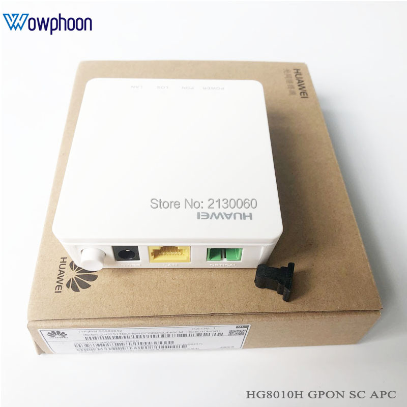 New Huawei HG8010H Gpon Optical Terminal ONU ONT With 1 GE Ethernet Ports, SC APC Interface English Firmware With Power Adapter