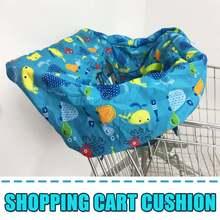 Защитный чехол для детской тележки для супермаркета, сумка для покупок, переноска для детской тележки, чехол для сиденья, многоразовая сумка, защитный чехол для тележки