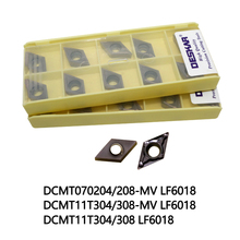 цены DESKAR lathe tools DCMT070204-MV LF6018 DCMT070208 MV DCMT11T304 DCMT11T308 lathe cutter Carbide inserts Suitable for