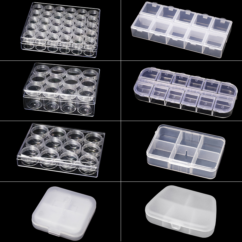 MIUSIE Plastic Small Transparent Box Jewelry Earring Bead Screw Pill  Case Chip Organizer Container Durable Storage Hot Sale