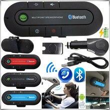 NEUE Bluetooth Car Kit Drahtlose Bluetooth Lautsprecher Telefon MP3 Musik Player Sonnenblende Clip Freisprecheinrichtung mit Auto Ladegerät