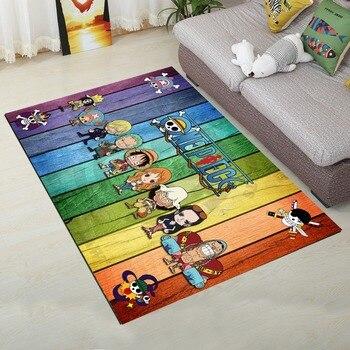 One Piece Shaggy Fluffy Anti-Skid Area Floor Mat 3D Rug Non-slip Mat Dining Room Living Room Soft Child Bedroom Mat Carpet 07