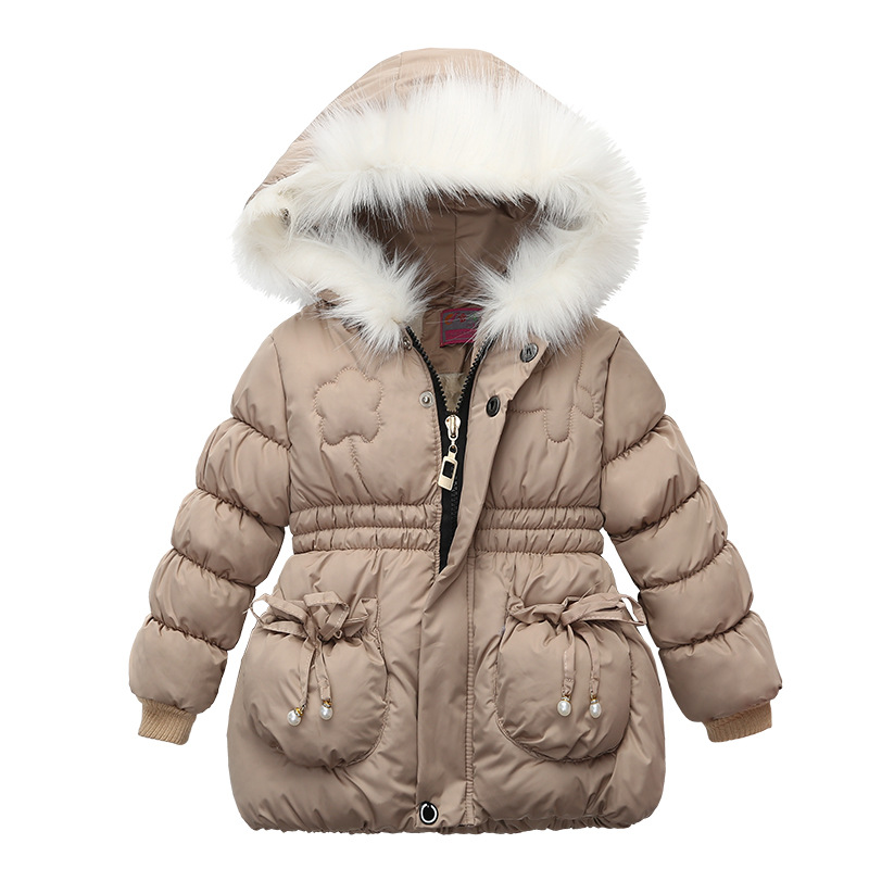 2021 Winter Girls Jackets Baby Girl Hooded Outerwear Autumn Children Clothing Warm Jacket Baby Kids Coats Clothes Girls Jacket 4
