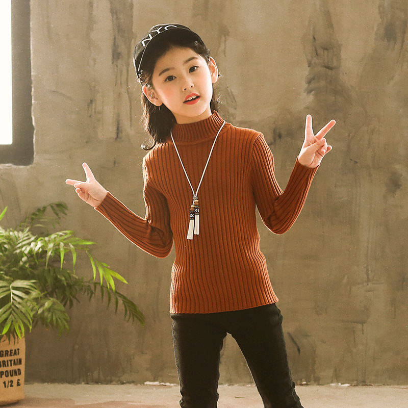 Childrenswear GIRL'S Sweater 2018 New Style Korean-style Fall And Winter Clothes GIRL'S Western Style Big Kid Children Autumn Cl