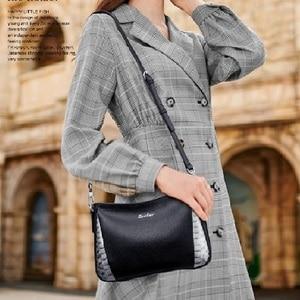 Image 2 - ZOOLER Cow leather Women Crossbody Bag Shoulder Bags Office Black Purse Lady Female Messenger Bag Women Present Gift #lt292