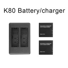 Bateria para acessórios da câmera da ação de keelead k80 para o carregador de bateria 3.7v 1350mah da maneira de cam 2