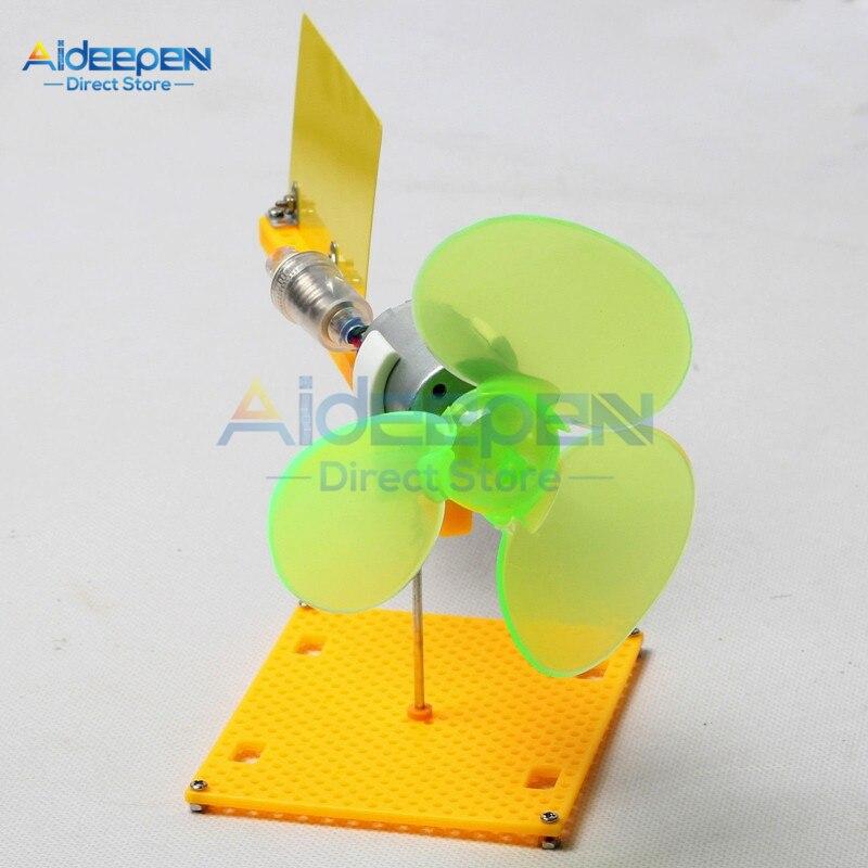 Micro Wind Turbines Generator Kit Small DC Motor Blades With Holder DIY Project Kit DC 0.1V-18V 0.01-0.3A 200-6000 rev/Min