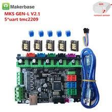 MKS GEN L V2.1 3D Makerbase original controle de cartão de apoio mainboard de impressora a4988 DRV8825 tmc2130 tmc2209 tmc2208 tb6600 lv8727
