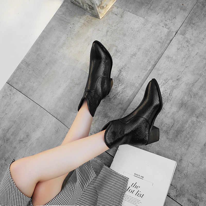 FEDONAS Herfst Winter Beknopte Rits Vrouwen Enkellaarsjes Warm Party Office Schoenen Vrouw Big Size Hoge Hakken Vrouwelijke Chelsea Laarzen