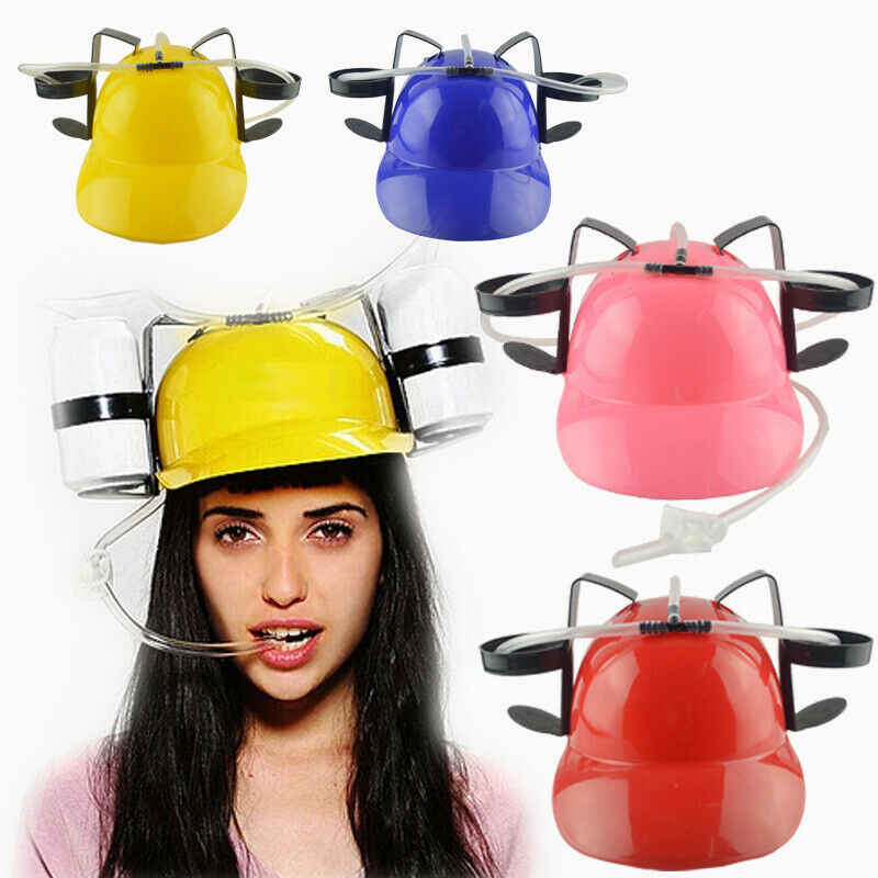 Chapéu bebendo mineradores capacete com farol luz cerveja pode festa jogos guzzler capacete chapéu de palha chapéu de palha jogo chapéu