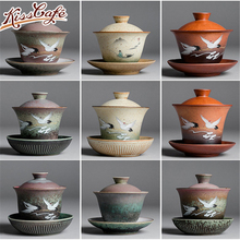 Enamel Gaiwan Handpainted Ceramic Tea Tureen Kung Fu Tea Set Chinaware zisha Tea cup Chinese Tea Service цена