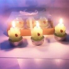 6 шт. свечи ко Дню Святого Валентина искусственные растения ароматерапия мясистый кактус ремесло бездымные свечи на день рождения для украшения дома