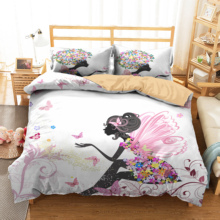 Double Duvet Bedding Cover Butterfly Beauty Printed Home Textiles Bedroom Clothes with Pillowcases Bed Linen