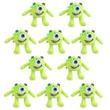 12 см 10 шт./лот Mike Wazowski плюшевые подвески мягкие куклы брелки для рюкзака подарки для детей