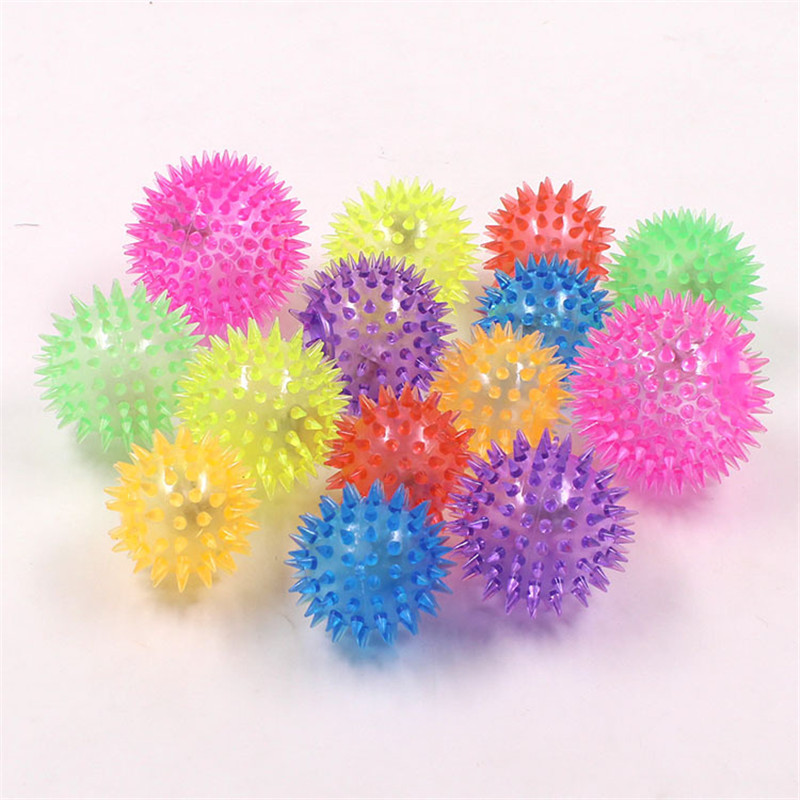 Popular Rubber Luminescence Dog Ball Kong Interactive Squeaky Dog Toy for Small Dog Training Aids Funny French Bulldog Puppy Toy Popular Toys cb5feb1b7314637725a2e7: Color random