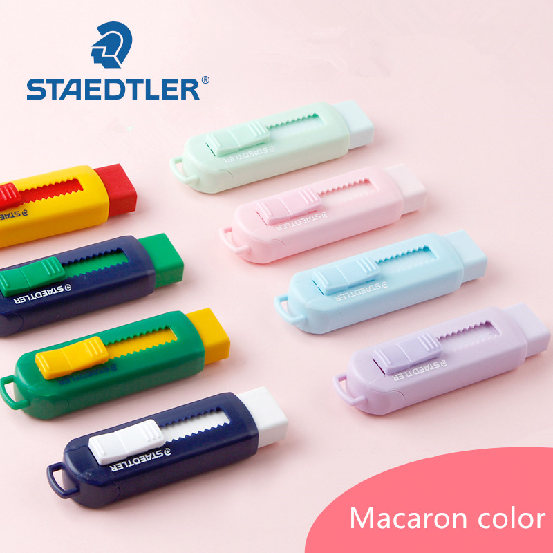 1pc Staedtler 525 PS1S Rubber Erasers Retractable Multicolour Pencil Erasers Eco-friendly Rubbers Macaron Pastel Color