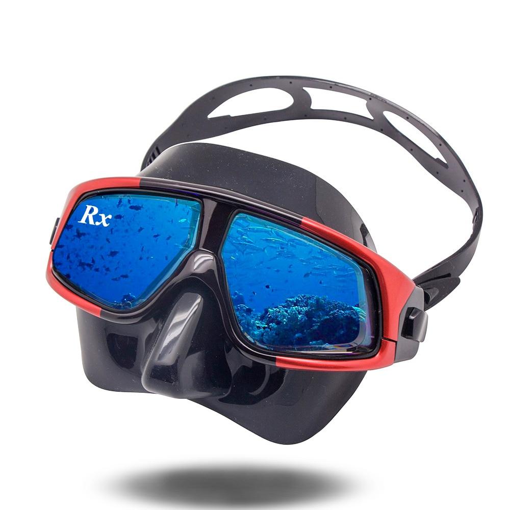 Rx Prescription Corrective Optical Diving Gear Kit Hyperopia Myopia Snorkel Set Dry Top Scuba Mask Wide Vision Anti-Fog UV400