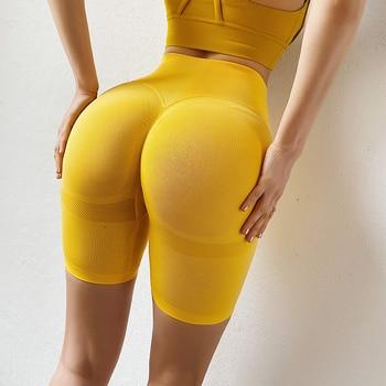 CHRLEISURE Sporty Women Shorts Printing Seamless Cycling Shorts Fitness Push Up Women Short Casual Short High Waist Booty Shorts 1