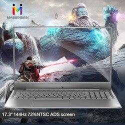 MaiBenBen XiaoMai 6S Plus для игрового ноутбука Intel I5-8265U + MX250 графическая карта/8G ram/512G SSD + 1 ТБ/17,3 144Hz 72% NTSC ноутбук