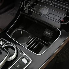 Water cup holder storage box For Mercedes w213 amg w205 amg/glc x253 coupe mercedes c class accessories