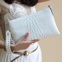 Luxury Crocodile Genuine Leather Clutch Bags Women's Handbag