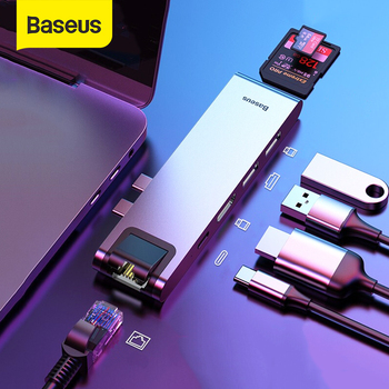 Baseus-Adaptador USB C HUB a USB 3,0, HDMI para MacBook Pro Air,...