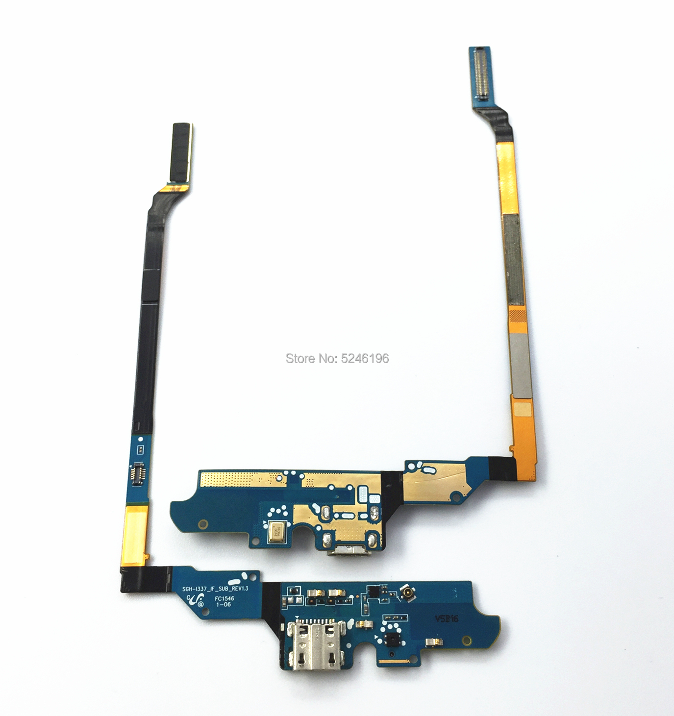 1pcs Original USB Charger Board Charging Port Connector Dock Flex Cable For Samsung Galaxy S4 I9500 M919 I337 I9505 Mic Parts