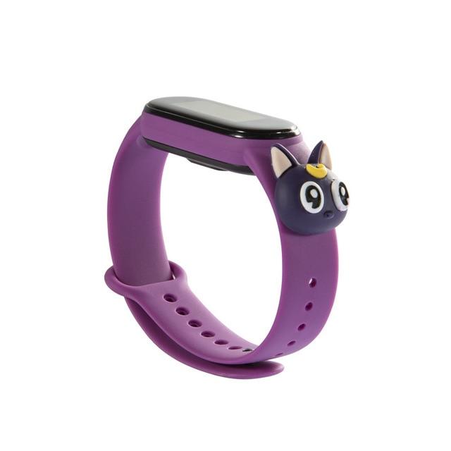 Купить силиконовый ремешок для xiaomi mi band 5 милый мультяшный браслет