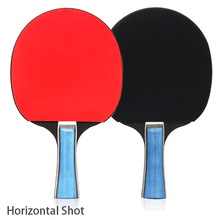 2pcs Table Tennis Racket Ping Pong Training Racquet Kit Racket Set With 2 Bats And 3 Ping Pong Balls Portable Case Bag henboo table tennis racket set upgraded version lightweight racquet high density viscosity strong rotating table tennis racket