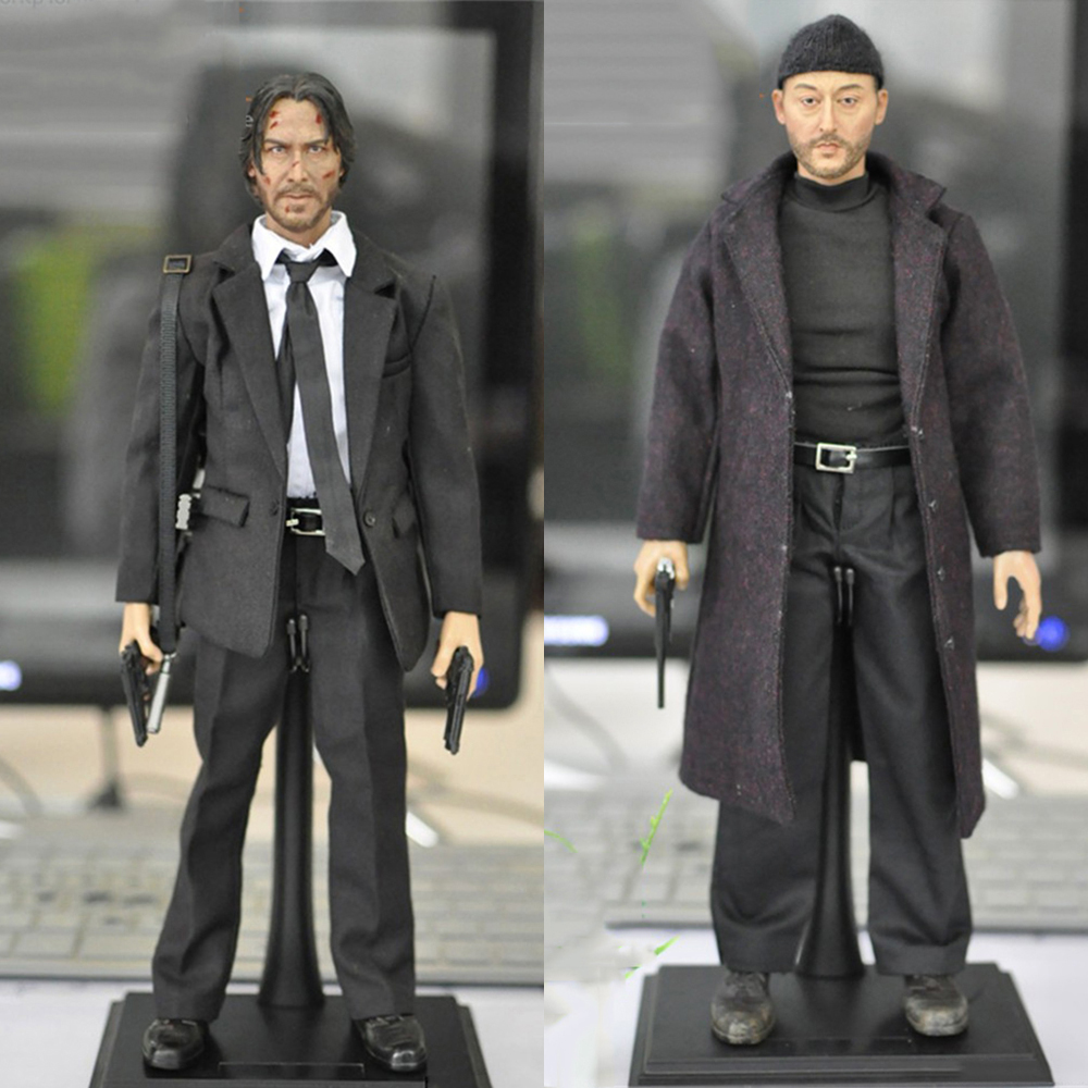 hot sales KMF037 KMF038 1/6 scale Jean Reno Leon male man movie cold killer actor star full set action figures for collections