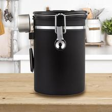 Large Capacity Coffee Canister Black Tea Storage Can for Home Office Stainless Steel Block Oxygen for Coffee Beans Powder Tea