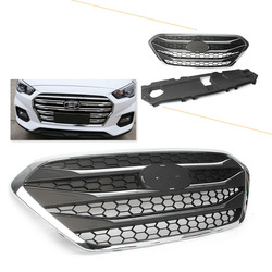 For Hyundai ix35 Tucson 2013 2014 2015 2016 ABS Front Grille Upper Radiator Hood Grill w/ Emblem Car Parts