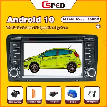 Csred Android 10 For Audi A3 8P 8P1 Hatchback S3 8P RS3 Sportback Auto Radio GPS Navigation Car Multimedia DVD CD Player Unit image