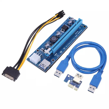 PCI-E 1X to 16X Riser Card 60CM PCI Express USB 3.0 PCI-E SATA to 6Pin Power Cable For BTC ETH XMR Bitcoin Mining Antminer Miner