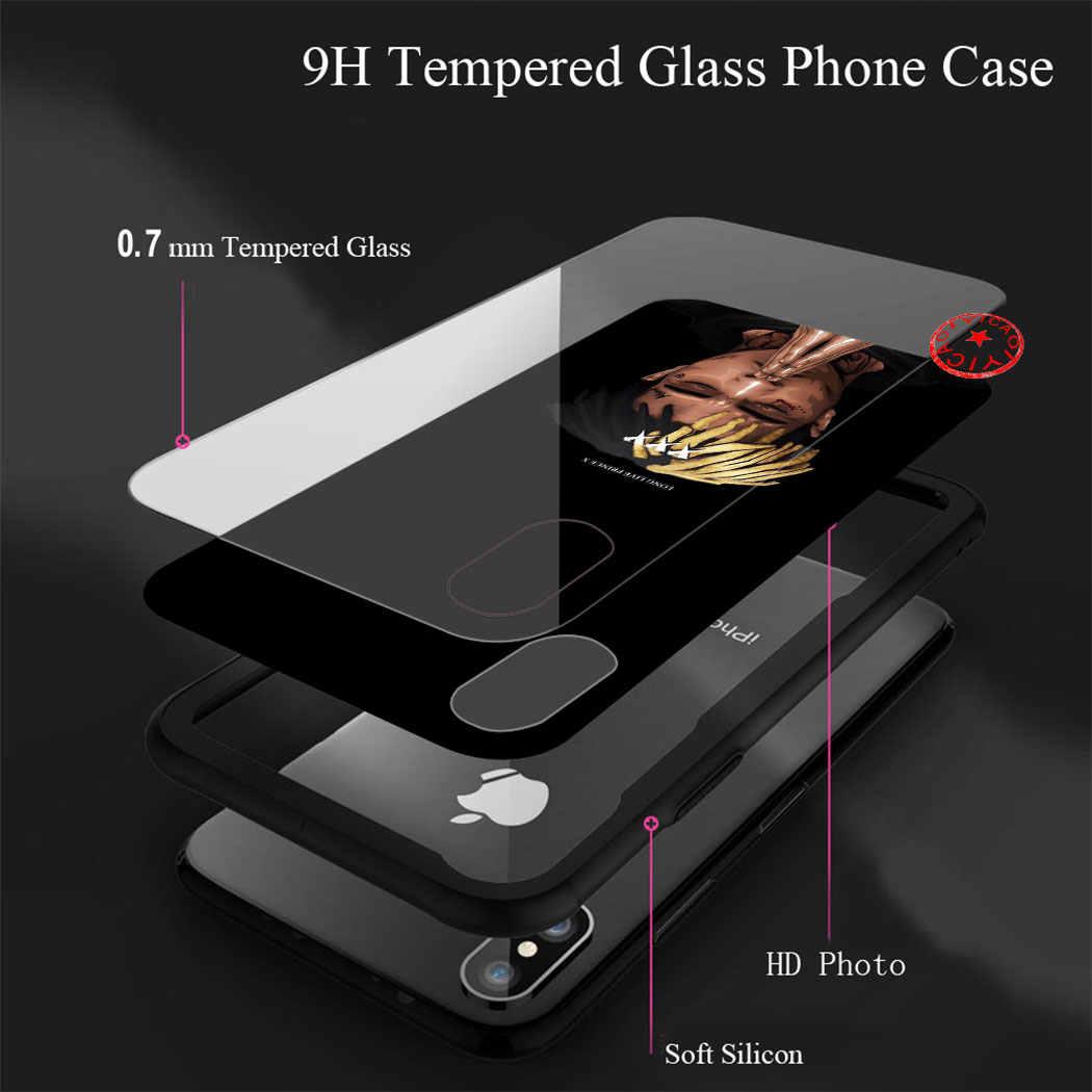 Xxxtentacion Schwarz Gehärtetem Glas Fall für iphone 5 5S SE 6 6S 7 8 Plus 11 Pro X XR XS max Pro Abdeckung