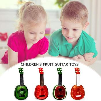 Cute Watermelon Guitar Fruit Style Children 4 String Guitar Mini Simulation Ukulele Musical Instrument Kids Music Gift Toy 18 new beginner children guitar ukulele educational musical instrument toy for kids interesting toys gift children s gift