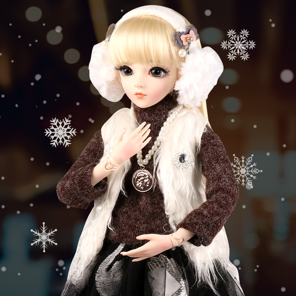 60CM Large <font><b>BJD</b></font> Doll <font><b>1/3</b></font> Girls <font><b>SD</b></font> Dolls 18 Ball Joints Movable Fashion Princess Doll Girl Dress UP Toys image