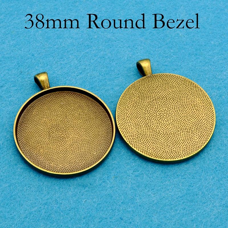 Pkg Brass frame pendant setting for 18x12mm cab b9-0854 of 1