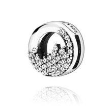 2019 Winter 100% New Bead  Reflexion Sparkling Icicles Clips Charms fit Original Pandora Bracelets Women jewelry fit pandora charms bracelets original 100