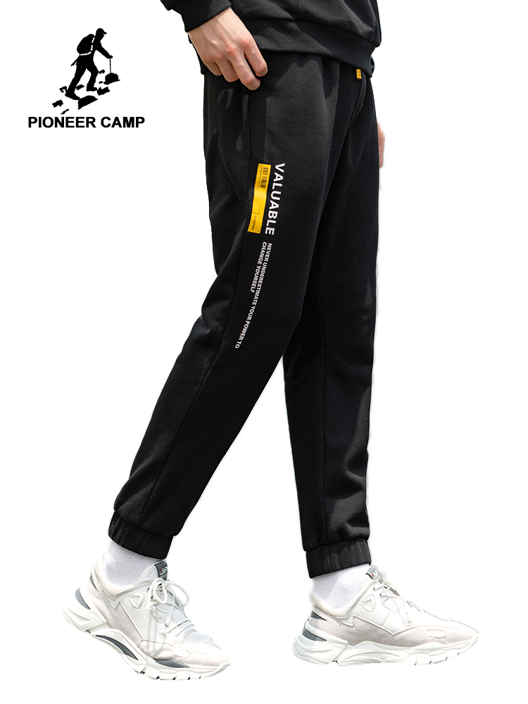 Pioneer Camp Autumn Men Joggers Casual Cotton Sweatpants Casual Pants 2019 Autumn Trousers Letter Print  AZZ907249T