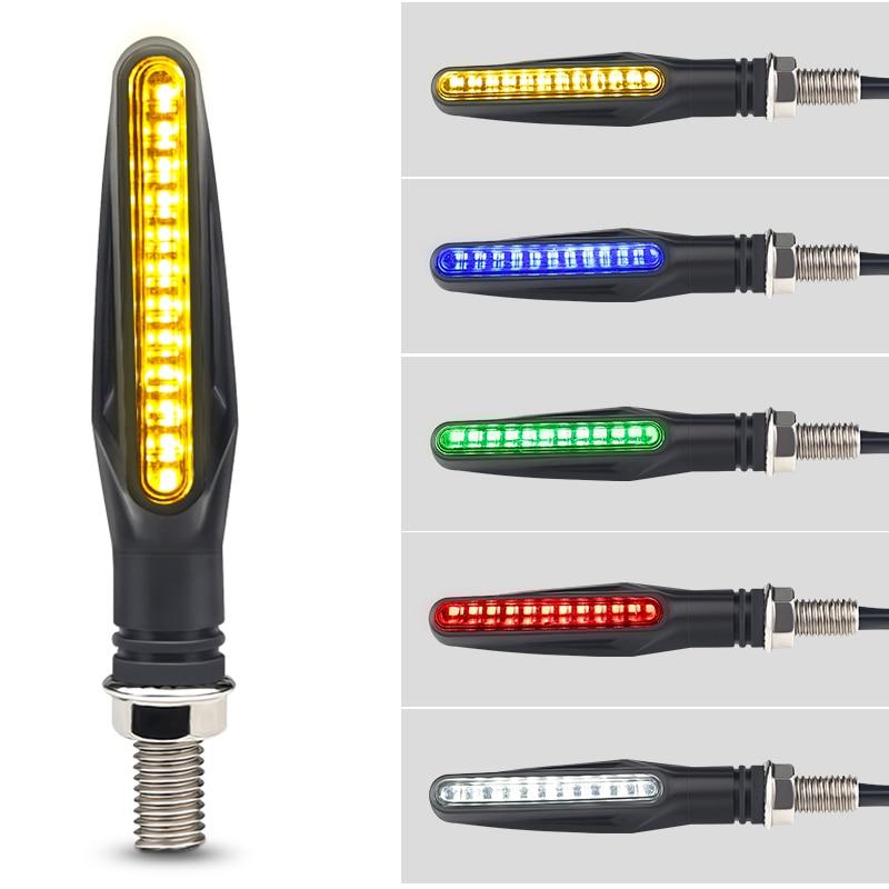 4PCS Retro 12v Led Motorcycle Turn Signal Indicators Waterproof Motorbike Stop Indicator 5 Colors