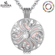 Юдора 20 мм Боло с шаром Harmony хрустальный шар клетка-медальон кулон Беременность ожерелье с шариком со светодиодной подсветкой из 30 дюймов цепи Для женщин ювелирные изделия K356N20