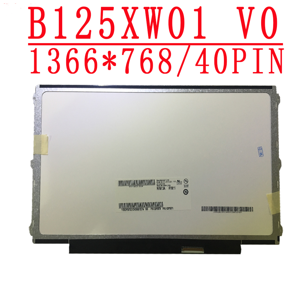 B125XW01 V.0 12.5 inch LVDS 40pins B125XW01 V0 For Dell Latitude E6230 E6220 for <font><b>lenovo</b></font> U260 K27 K29 X220 <font><b>X230</b></font> Matte <font><b>LCD</b></font> <font><b>Screen</b></font> image
