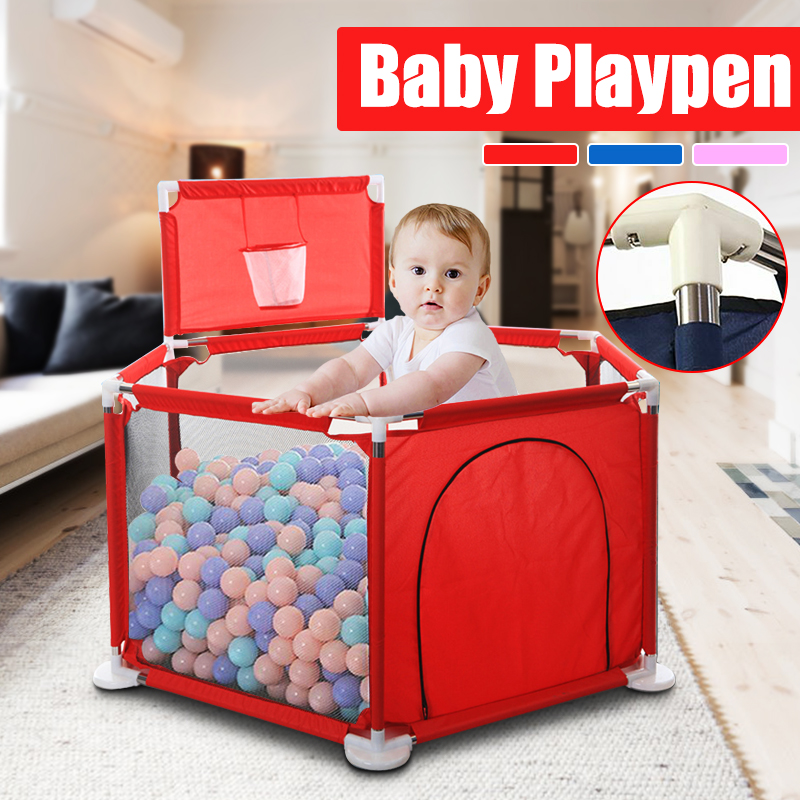 Baby Playpen Fence Play Yard Folding Safety Barrier For 0-6 Years Old Children Playpen Oxford Cloth Game Tent Barrier For Infant
