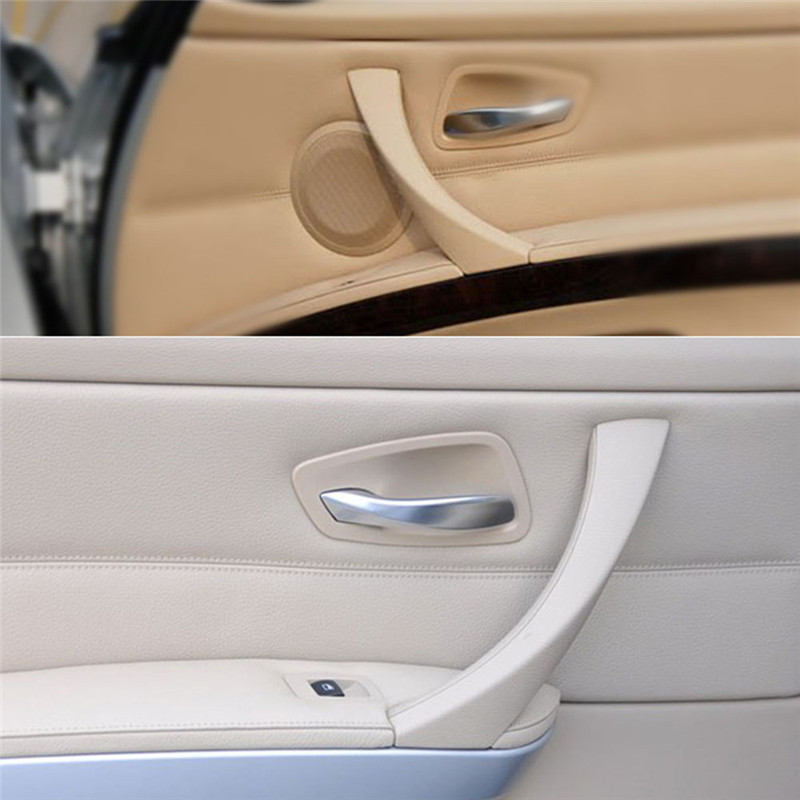 Right Inner Front Door Panel Handle Pull Trim+Cover For BMW E90 2004-2012 Beige