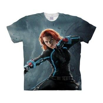 Hot Sale Black Widow Printed Tee Shirt Men Women Superhero Natasha Romanoff T-Shirt Homme Short Sleeve Summer Tee Tops